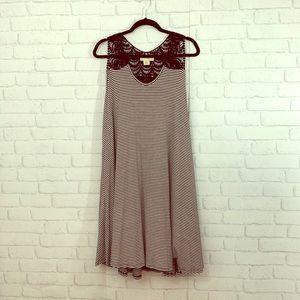 Black and white striped dress size 2XL!